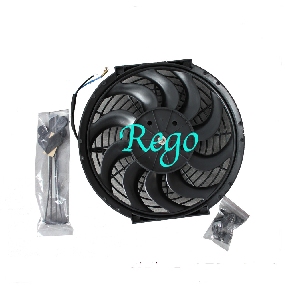 12 Volt Universal Automotive Radiator Cooling Fans 12 Inch Black Color